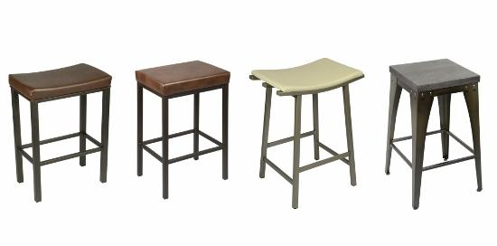 Opt for a backless stool if youu0027re looking to create an open view from the kitchen to the family room. Kitchen counters tend to be busy walkways so a tuck ...  sc 1 st  Peters Billiards & Mid-Century Modern Stools - Entertaining Design islam-shia.org