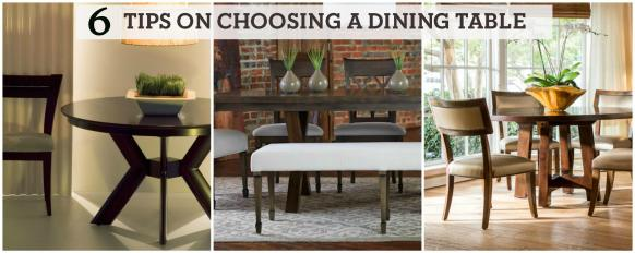 Six Tips On Choosing A Dining Table