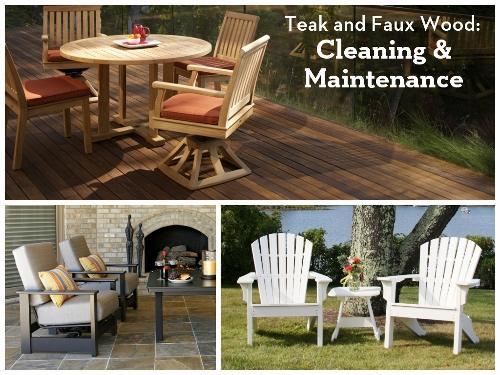 Teak Patio Furniture Maintenance: Cleaning And Maintenance