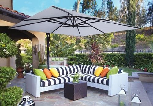 Consider The Space And Furniture Groupings When Selecting The Right Size  Cantilever Umbrella. Sizes Can Range From 8.5u0027 Square To Giant 13u0027  Octagonal Or A ...