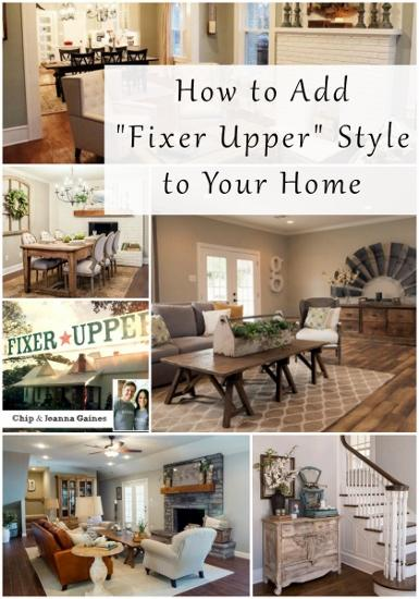 How To Add Fixer Upper Style To Your Home Entertaining