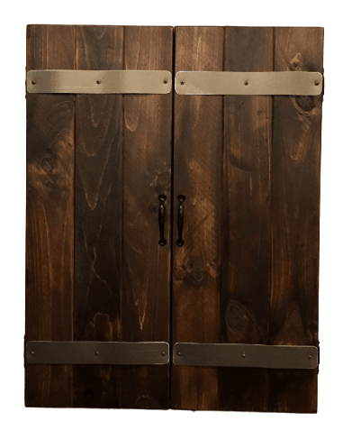 Rustic Dartboard Cabinet Peters Billiards