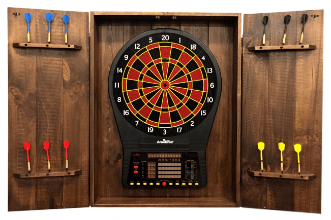 Rustic Dartboard Cabinet - Peters Billiards