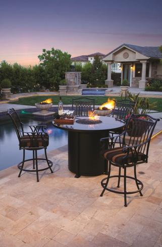 Santorini Counter Height Fire Pit Peters Billiards - Counter height patio table with fire pit