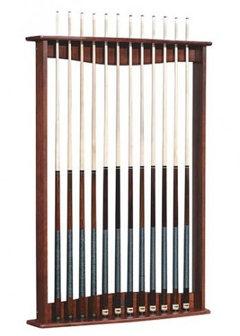 Gold crown wall rack peters billiards for Cue rack plans
