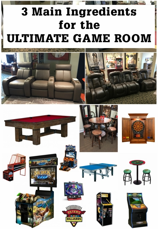 3 Main Ingredients For The Ultimate Game Room