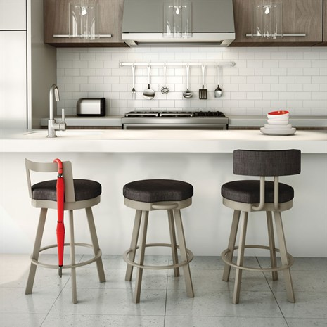"What'S Trending In Kitchen Stools? The ""Mini-Back"" Stool"